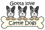 Three Blue Australian Cattle Dogs