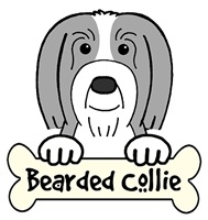 Bearded Collie Cartoon T-Shirts and Gifts