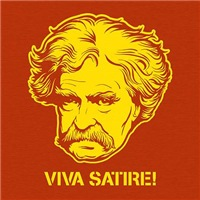 Viva Satire Mark Twain Design