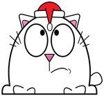 Cartoon Santa Cat