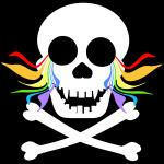 Rainbow Tears White Skull