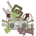 Respect Boom Box Grunge Design