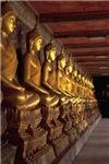 Row Of Gold Buddhas