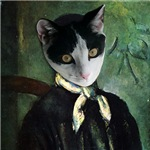 Cezanne Cat Portrait
