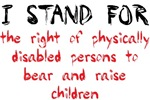Right of disabled people to bear / raise children