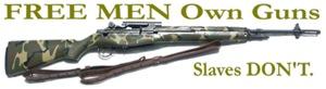 Free Men own rifles Women's Clothing