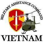MACV Vietnam with Huey