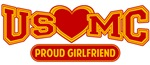 T-shirts, hats, mugs, stickers and gift items for USMC Girlfriend