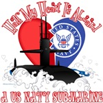 T-shirts, hats, mugs, stickers and gift items for Navy Submariner Wife or Girlfriend