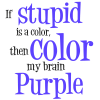 Color my brain...