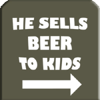 He sells beer to Kids