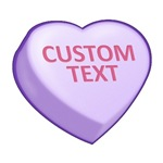Purple Custom Candy Heart