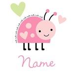 Pink Ladybug (personalized)