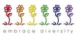 Embrace Diversity Gay Pride Flowers