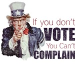If you don't vote, you can't complain (Distressed)