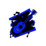 blue black guitar musical design