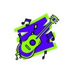 green purple ab guitar