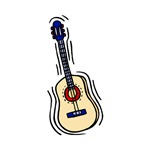 acoustic guitar music graphic