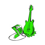 green guitar amp musical instrument