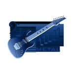 guitar electric dark blue image