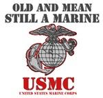NEW! USMC Old & Mean Still A Marine T-Shirts & Gif