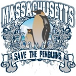 Save the Penguins Massachusetts T-Shirts and Gifts