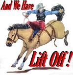 Bronc, Bucskin, Lift off