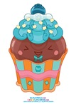 Kawaii Blueberry Cupcake
