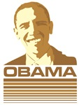 Barack Obama (Retro Brown) 