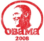 Vintage Barack Obama 2008 (red) 