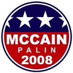 John Mccain - Sarah Palin (circle)