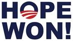 Hope Won! (Obama Symbol)