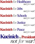 Kucinich Anti-War Chant