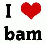 I Love bam