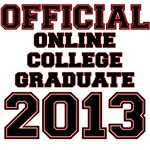 OFFICIAL ONLINE COLLEGE GRADUATE 2013 VARSITY STYL