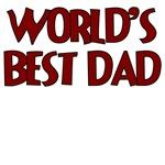 WORLD'S BEST DAD RED