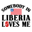 Somebody In Liberia T-shirts