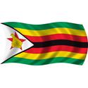 Wavy Zimbabwe Flag