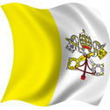 Wavy Vatican city Flag