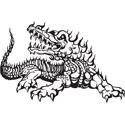 Flaming Crocodile Tattoo