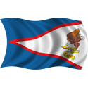 Wavy American Samoa Flag