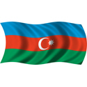 Wavy Azerbaijan Flag