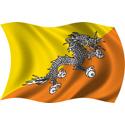 Wavy Bhutan Flag