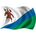 Wavy Lesotho Flag