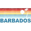 Retro Barbados Palm Tree