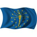 Wavy Indiana Flag