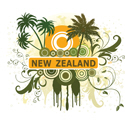 Palm Tree New Zealand T-shirt
