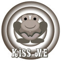 Retro Kiss Me Frog
