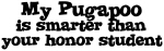 Honor Student: My <strong>Pugapoo</strong>