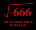 The square root of negative 666, the imaginary number of the beast.  What math geek's wardrobe would be complete without one?